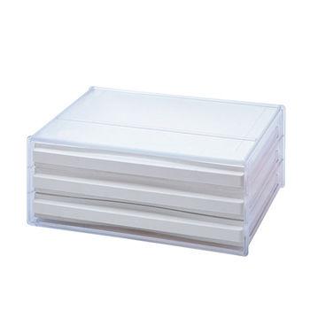 【SONA MALL】三層橫式桌上資料文件櫃 (3橫式低抽)