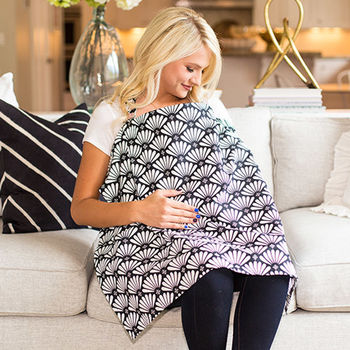 美國Mothers Lounge美型哺乳巾-日本菊花