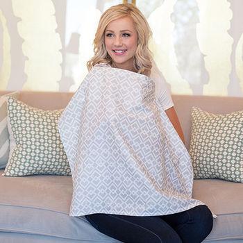 美國Mothers Lounge美型哺乳巾-淺灰窗格