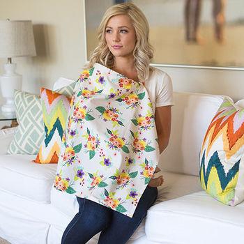 美國Mothers Lounge美型哺乳巾-繽紛花束