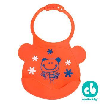 Creative Baby 創寶貝- 可收納式攜帶防水無毒矽膠學習圍兜-活力寶貝(Silicone Bids)