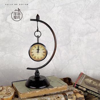 【協貿】高檔裝飾復古臥室客廳家居座鐘工藝品擺件