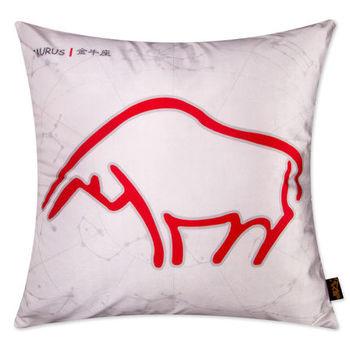 【協貿】時尚簡約休閒可愛創意十二星座之金牛座抱枕含芯