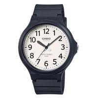 CASIO 精簡配色潮流 指針式腕錶 ^#45 白x黑 ^#45 MW ^#45 240