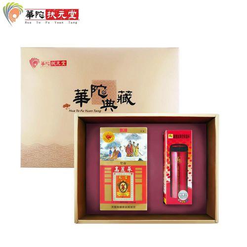 華陀扶元堂天官 高麗蔘茶禮盒(高麗蔘茶包35入+鍋寶保溫杯)x1