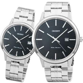 ORIENT 東方錶經典石英對錶-黑 / FUNG8003B FUNG7003B (原廠公司貨)