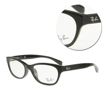 【Ray Ban】橢圓粗框黑色光學眼鏡(RB5304-D-2000)