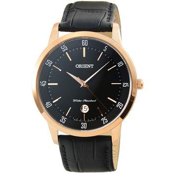 ORIENT 東方錶經典石英皮帶錶-金 / FUNG5001B (原廠公司貨)