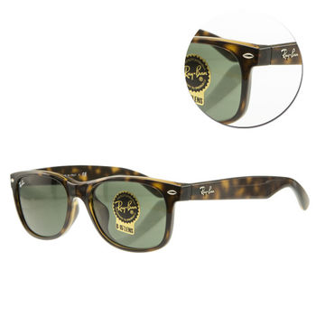 【Ray Ban雷朋】綠色琥珀太陽眼鏡(RB2132-F 902)-亞洲版