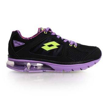【LOTTO】女氣墊慢跑鞋-路跑 黑淺紫