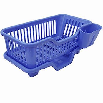 月陽MB大容量三件式排水式碗盤架餐具架筷籠收納架(735515)