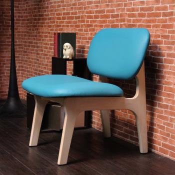 JUDY 茱蒂簡約休閒椅/單人椅/皮椅-四色
