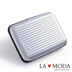 LAMODA防感應防盜刷~鋁製卡夾大容量信用卡夾