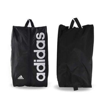 【ADIDAS】鞋袋-旅行 手拿袋 手提袋 收納袋 手提包 愛迪達 黑白