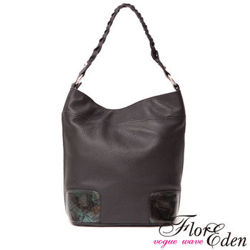 DF Flor Eden - 台灣手工柔軟真皮編織背帶側肩背包
