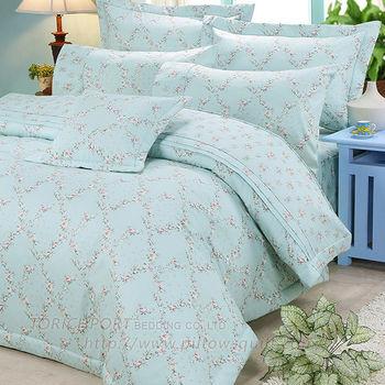 FITNESS 靜謐花園 純棉雙人七件式 床罩組(綠)