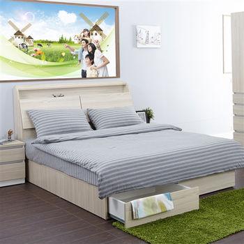 ROSE 時尚極簡雙人床包枕套3件組