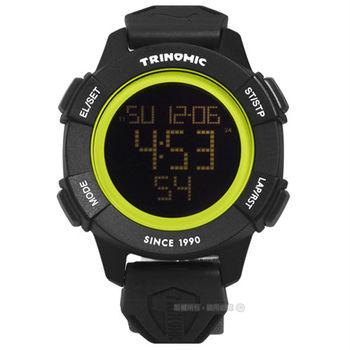 PUMA / PU911271001 / 帥氣剛強運動電子帆布腕錶 黑黃x黑框x灰 47mm