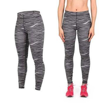 【PUMA】女訓練印花緊身反光LOGO長褲-緊身褲 慢跑 路跑 瑜珈 有氧 健身 韻律 黑白