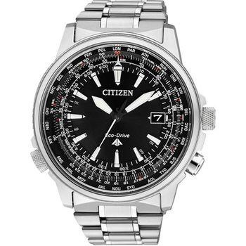 CITIZEN PROMASTER 世界旅遊五局電波光動能時尚優質腕錶-黑-CB0131-59E