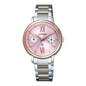 CITIZEN xC 珍愛女人心光動能時尚優質腕錶-粉紅面-FD1014-52X