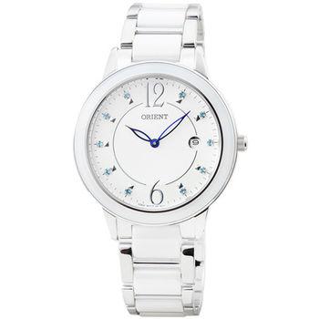 ORIENT 東方錶DRESS 陶瓷石英女錶-白 / FGW04004W (原廠公司貨)