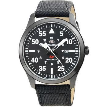 ORIENT 東方錶野戰石英帆布錶-IP黑 / FUNG2003B (原廠公司貨)