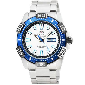 ORIENT 東方錶潛水機械鋼帶錶-藍 / FEM7R003W (原廠公司貨)