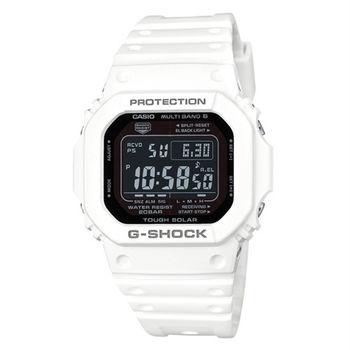 G-SHOCK 酷炫魅力展現電波時計運動腕錶-白-GW-M5610MD-7