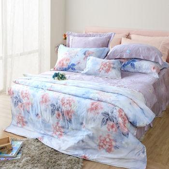R.Q.POLO 繁花夢里 天絲系列/雙人標準床包兩用被四件組(5X6.2尺)