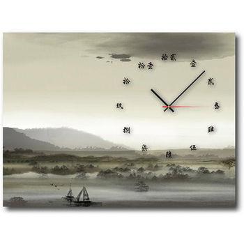 【TIME ART】靜音機芯時鐘 無框畫鐘 掛鐘  40*60*2.5cm R1-034