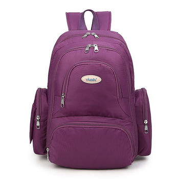 【YABIN台灣總代理】輕量多功能大容量媽媽包-葡萄紫色