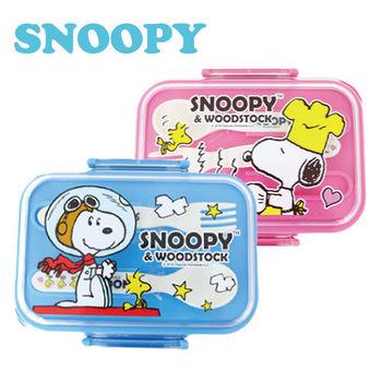 史努比SNOOPY雙層附餐具便當盒*2入/組