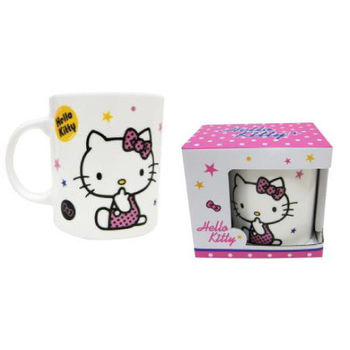 Hello Kitty 新骨瓷牛奶杯-星星款360ml