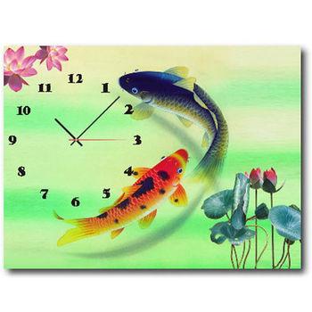 【TIME ART】靜音機芯時鐘 無框畫鐘 掛鐘  30*40*2.5cm R1-056