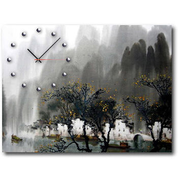 【TIME ART】靜音機芯時鐘 無框畫鐘 掛鐘  30*40*2.5cm R1-033