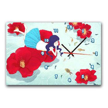 【TIME ART】靜音機芯時鐘 無框畫鐘 掛鐘  30*40*2.5cm R1-012