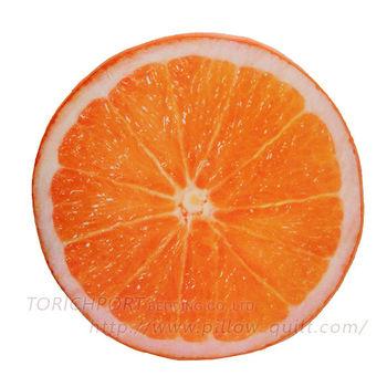 創意立體水果造型坐墊 -柳丁