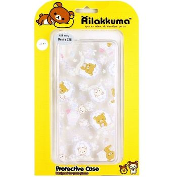 Rilakkuma 拉拉熊 HTC Desire 728 (D728X) 歡樂系列 彩繪透明保護軟套-香水