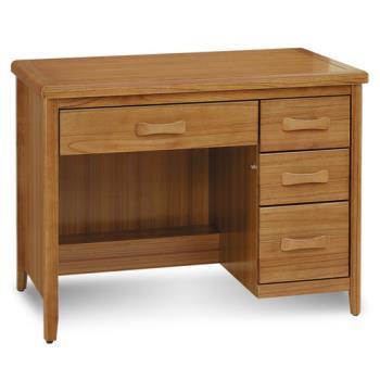 顛覆設計 絲莉愛3.5尺柚木實木書桌