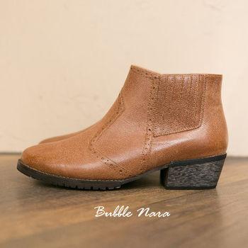 Bubble Nara 波波娜拉~短靴-騎士旅人復古短(靴駝色),植物染水臘牛皮,久穿自然陳色,MIT 真皮短靴