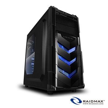 Raidmax雷德曼 VORTEX V4 404 電腦機殼(藍)/ATX/黑化/USB*2/支援顯卡390mm