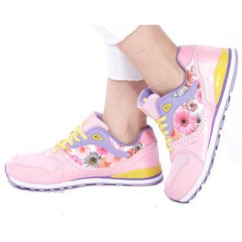 皮爾卡登炫彩花漾運動鞋