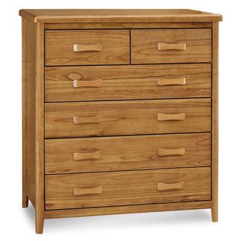 顛覆設計 絲莉愛3.5尺柚木實木五斗櫃