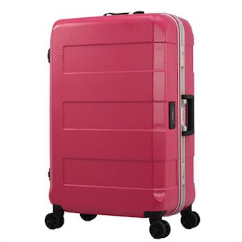 日本 LEGEND WALKER 台灣限定 6021-64-26吋 電子秤鋁框行李箱 木梅粉紅