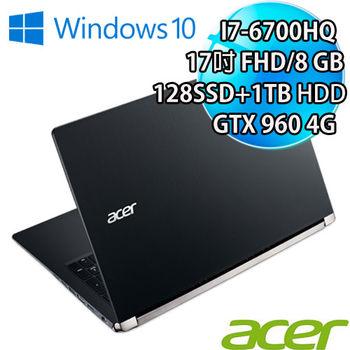 ACER 宏碁 VN7-792G-76Y0 17吋 IPS FHD i7-6700HQ 獨顯960M 4G Win10 六代處理器電競筆電