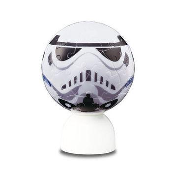星際大戰 3D球型 發光立體拼圖 小夜燈 - 白兵