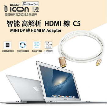 【DESOF ICON-i控】Mini DisplayPort to HDMI M Adapter(合金轉換線)