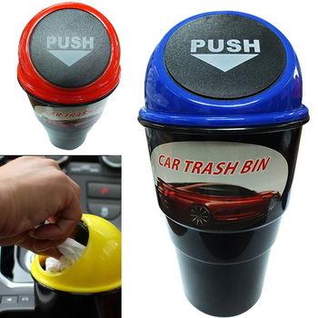 車用杯架式置物垃圾桶 (車用收納置物盒)-2入組