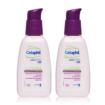 Cetaphil舒特膚 青春無痘控油保濕乳SPF30(118ml) 2入組(加贈舒特膚試用品*2)